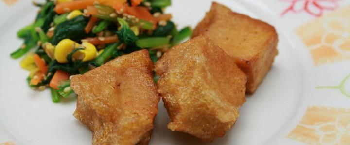 スチコンで作る高野豆腐のから揚げ