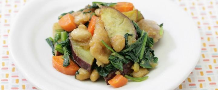 鶏肉と大豆の揚げ煮
