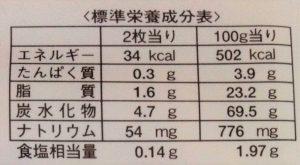 味しらべ3 (栄養価表示)