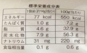 きなこ餅(栄養価)